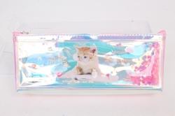 Пенал с водой Кот в очках 1шт 23х9см
