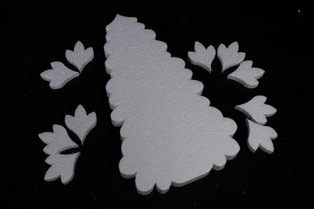 Пенопластовая форма - Ель с лапами, Арт. Е-04 (1шт в уп)