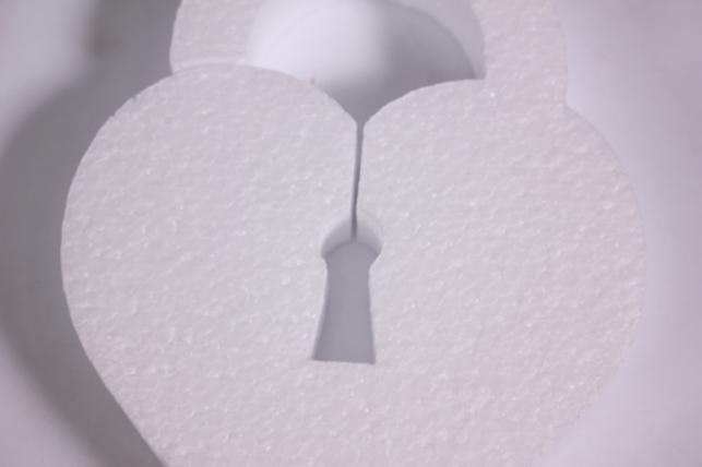 пенопластовая форма - сердце-замок (2шт в уп) - арт. се-07 код 07-се