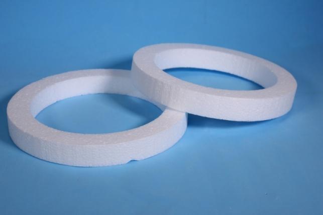 Пенопластовая форма - Венок (2шт в уп) d=20см, толщ. 2,5 см Арт. В-02