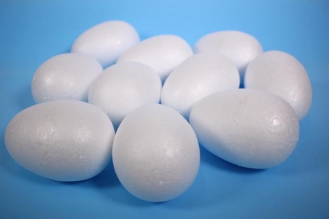 Пенопластовая форма - Яйцо объемное 11 см (10 шт в уп) - код 5956