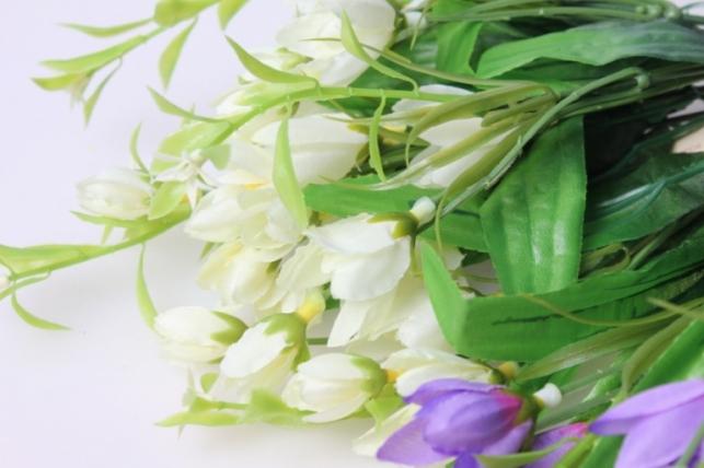 первоцвет искусственный белый/сирень/салатовый 1шт. цвета в ассортименте