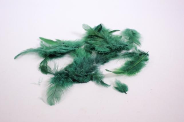 перья декоративные - изумруд в пакете 10гр (код 1795)
