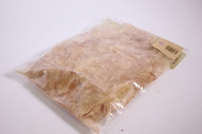 перья декоративные - светло-коричневые в пакете 10гр (код 2712)