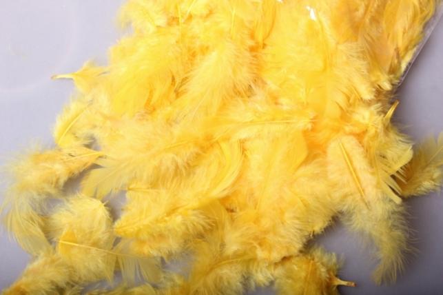 перья желтые в пакете 10гр 1887