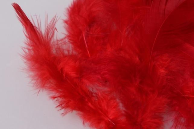 перья красные в пакете 10гр 1825