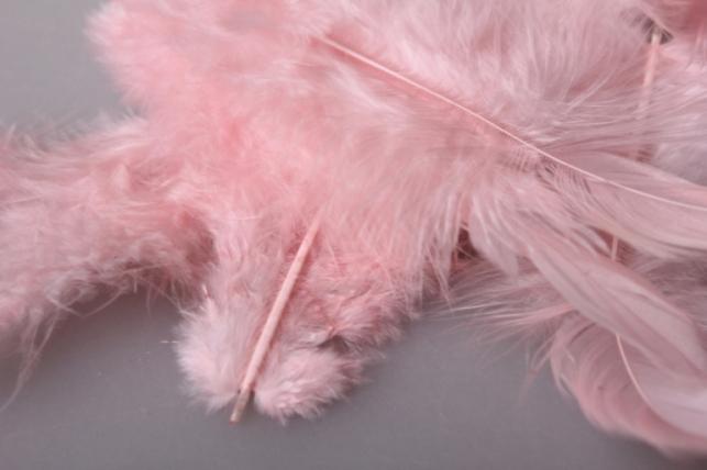 перья розово/бежевые в пакете 10гр 1740
