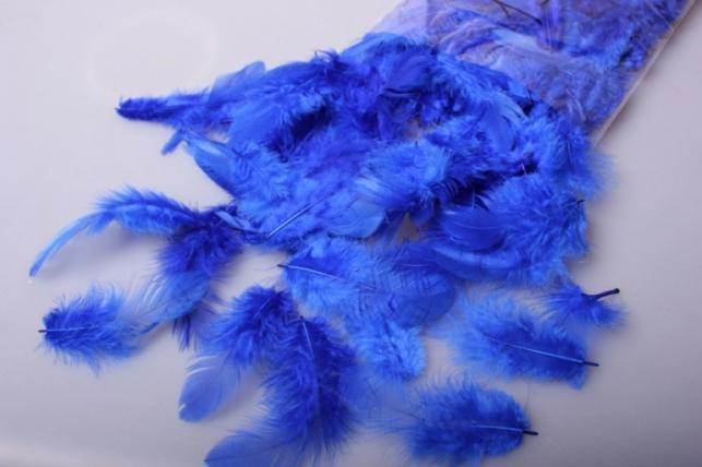 перья синие в пакете 10гр 1689