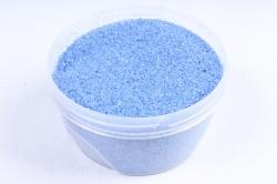 Песок цветной 380гр голубой (кварцевая крошка, фракция 0,5-1 мм)301527038104
