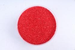 Песок цветной 380гр красный (кварцевая крошка, фракция 0,5-1 мм)301527038108