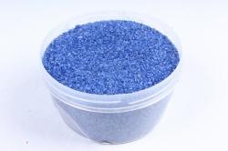 Песок цветной 380гр синий (кварцевая крошка, фракция 0,5-1 мм)301527038115