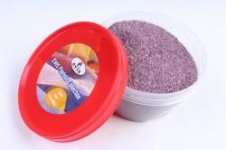 Песок цветной 380гр сиреневый (кварцевая крошка, фракция 0,5-1 мм)301527038116