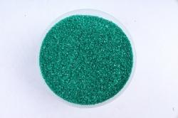 Песок цветной 380гр темно-зел.(кварцевая крошка, фракция 0,5-1 мм) 301527038118