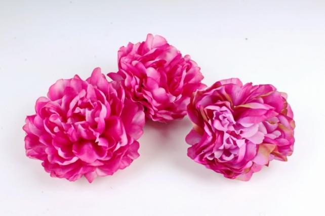 Пион  цвет тёмно-розовый 1666 (3 шт в уп) SUN406
