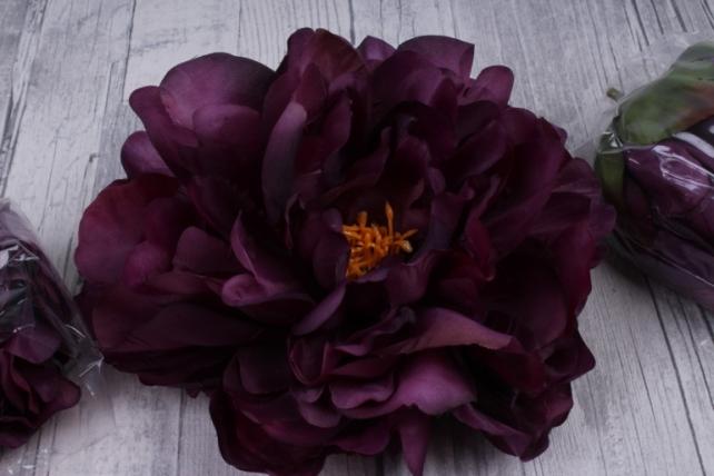 пион 12 см цвет баклажан 1315 (3 шт в уп) sun406