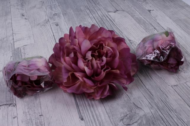 Пион 12 см цвет пепельно-розовый 1733 (3 шт в уп) SUN406