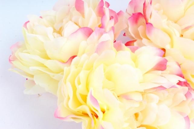 Пион 12 см цвет персиково-малиновый 1732 (3 шт в уп) SUN406