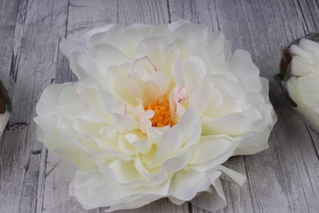 пион 12 см цвет ваниль 1664 (3 шт в уп) sun406