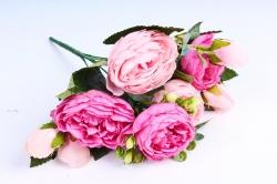 Пионы Ретро низкие розово-малиновая