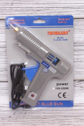 Пистолет большой клеевой  в пласт. кор. Серый (1,27см)  TL-B60-100W М