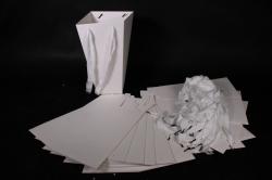 Плайм пакет Конус с ручкой для цветов (12 шт в уп) Белый 27*15*9  F9