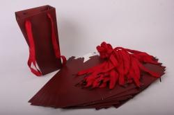 Плайм пакет Конус с ручкой для цветов (12 шт в уп) Коричневый 27*15*9  F9