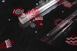 Пленка цветная Ёлочные игрушки 80см красно-белый Арт00056313