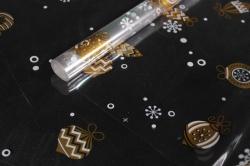 Пленка цветная Ёлочные игрушки 80см золото-белый Арт00056316