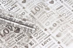 Пленка цветная Love 70см графит(200гр) 00054793