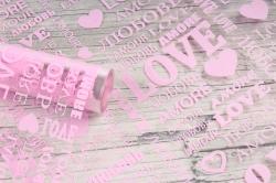 Пленка цветная Love 70см розовый(200гр) 00054788