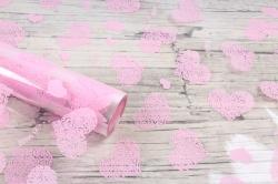 Пленка цветная Сердца Love is 70см  розовый(200гр) 6049676
