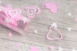 Пленка цветная Валентин 70см розово-белый (200гр)  6049730