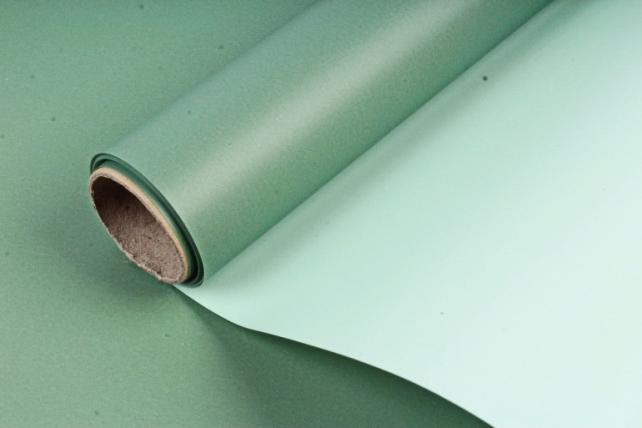 Пленка матовая двухсторонняя, 70 мкр, 58 см х 5 м, серо-зеленый / сине-зеленый (М) 1535