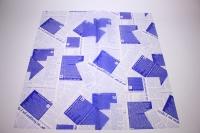 ПленкаматоваяГазеталист60*60см.(20л/пач)синий
