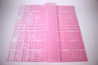 ПленкаматоваяНадписьлист60*60см.(20л/пач)светло розовая