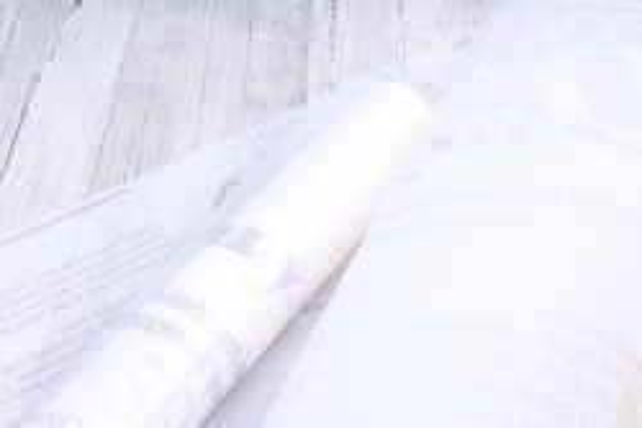 """Пленка матовая 60см*10м """"Листовка"""" белый (Н) 2043"""