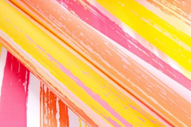 """Пленка матовая 60см*10м """"Весна"""" оранжевый+красный+желтый (Н) 2067"""