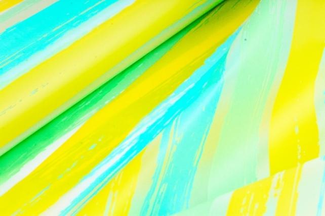 """Пленка матовая 60см*10м """"Весна"""" салатовый+желтый+тифани (Н)  2074"""