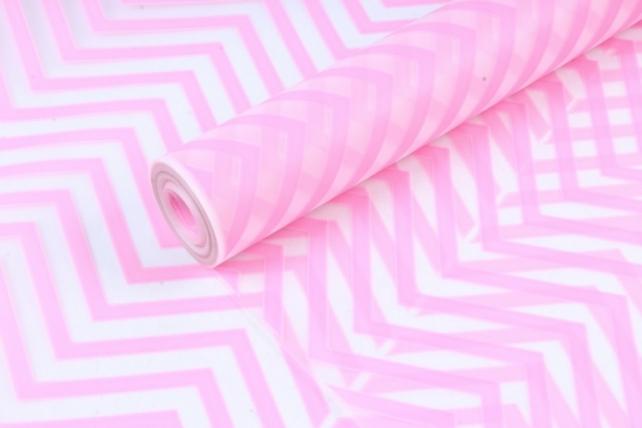 Пленка матовая Зигзаг 70см розовыйАрт.00068221 (И)