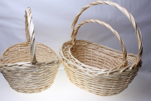 Плетеные корзины - 11-7450 Комплект корзин из 3-х штук Овал (47х35, h=21-44см)