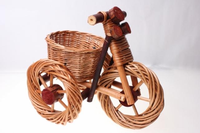 Плетёные корзины (подарочные) - Корзина Велосипед большой (31 х 22см)