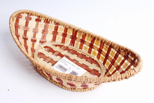 Плошка плетеная ( бамбук) - Ладья 26*14*7см