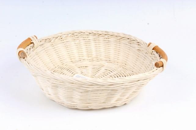 Плошка плетеная ( бамбук) - Круг с ручками