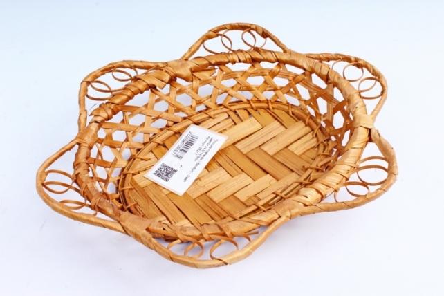 Плошка плетеная ( бамбук) - Овал цветок