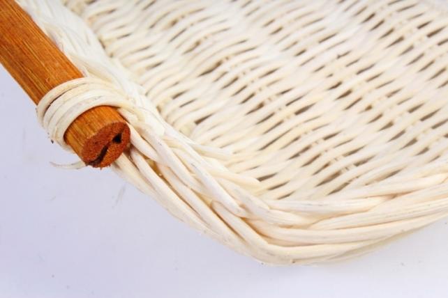 Плошка плетеная ( бамбук) - Прямоугольник белый