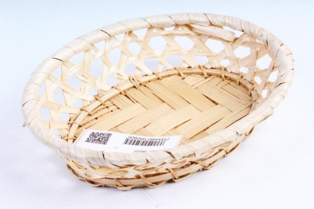 Плошка плетеная ( бамбук) - Прямоугольник коричневый