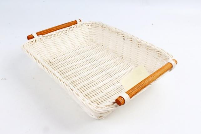 Плошка плетеная ( бамбук) - Прямоугольник натуральный