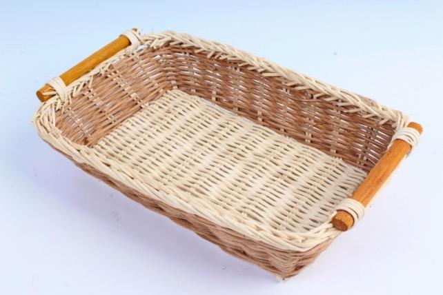 Плошка плетеная ( бамбук) - Прямоугольник с полоской