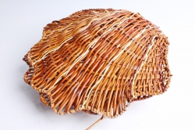 Плошка плетеная ( бамбук) - Ракушка большая коричневая
