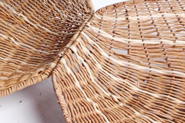 Плошка плетеная ( бамбук) - Ракушка большая натуральная